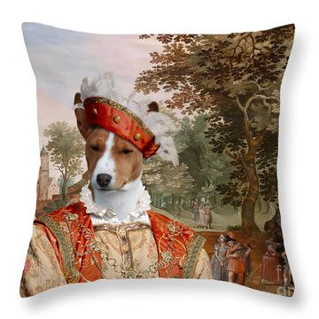 Basenji Art Canvas Print Throw Pillow