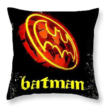 Batman In Halifax Throw Pillow by John Malone