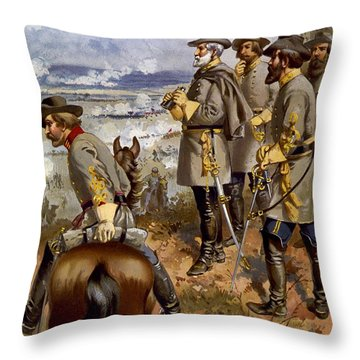 Battle Of Fredericksburg Throw Pillow by American School