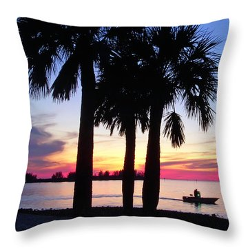 Beach Sunset Throw Pillow by Aimee L Maher Photography and Art Visit ALMGallerydotcom