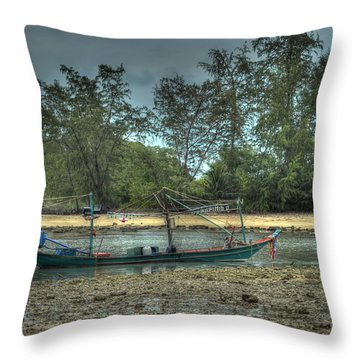 Throw Pillow featuring the photograph  Before Storm by Michelle Meenawong