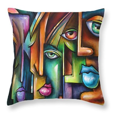 ' Believers ' Throw Pillow by Michael Lang