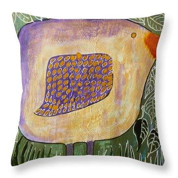 Bird In The Bush Throw Pillow