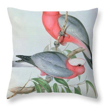 Birds Of Asia Throw Pillow by John Gould