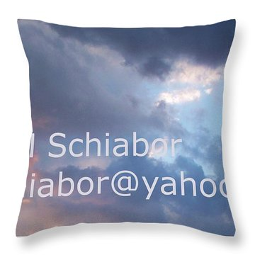 Blue And Purple Parting Clouds Print Throw Pillow by Eric  Schiabor