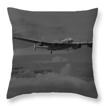 Bomber's Moon Throw Pillow by Pat Speirs