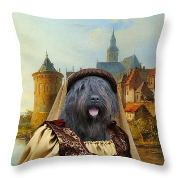 Bouvier Des Flandres Throw Pillows Fine Art America