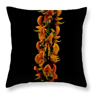 Throw Pillow featuring the photograph  Bunch Of Flowers by Michelle Meenawong