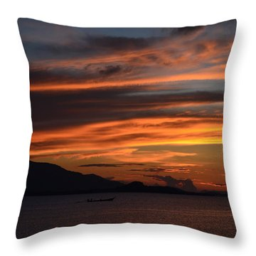 Burning Sky Throw Pillow by Michelle Meenawong