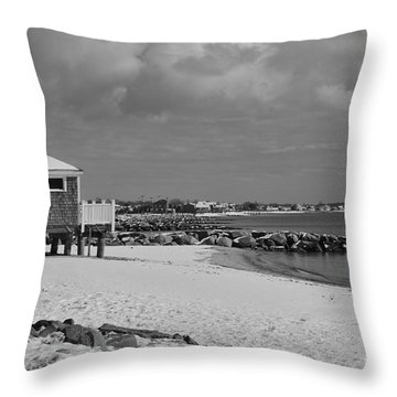 Cape Cod Winter Morning Throw Pillow by Catherine Reusch  Daley