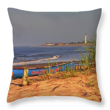 Cape May Beach Throw Pillow by Nick Zelinsky