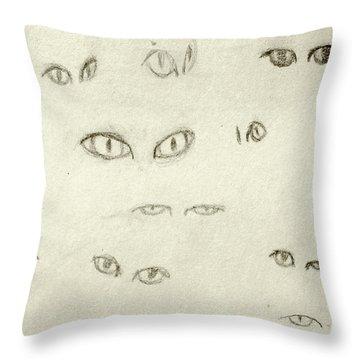 Cat Eyes - 1 Throw Pillow