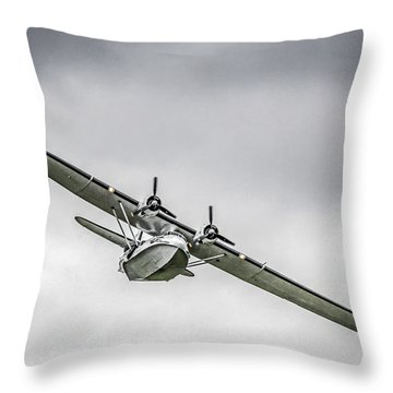 Catalina Seaplane Throw Pillow