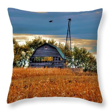 Throw Pillow featuring the photograph  Childhood Memories    by Larry Trupp