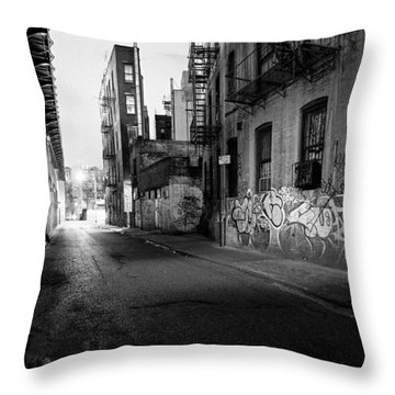 Chinatown New York City - Mechanics Alley Throw Pillow by Gary Heller