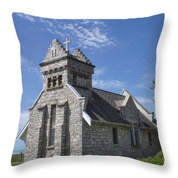 Church In New Zealand Throw Pillow