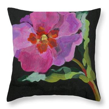 Cistus New Zealand Throw Pillow by Deborah Barton