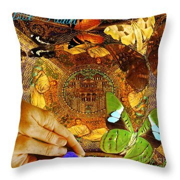 Civitate Dei   City Of God  Throw Pillow by Joseph Mosley