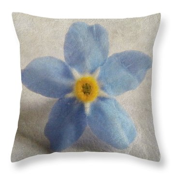 Myosotis 'forget-me-not'- Single Flower Throw Pillow