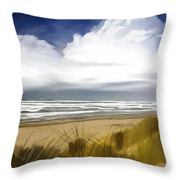 Throw Pillow featuring the digital art  Coastal Breeze by Anthony Fishburne