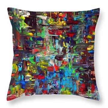 Colorfest Throw Pillow by Everette McMahan jr