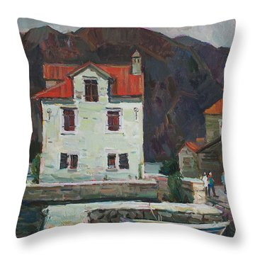 Coolness Of Olive City Throw Pillow
