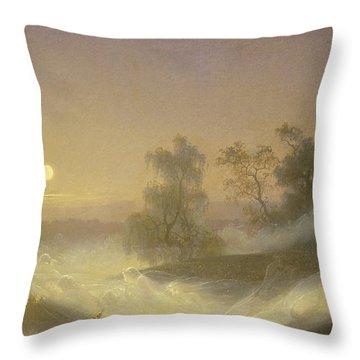 Dancing Fairies Throw Pillow by August Malmstrom