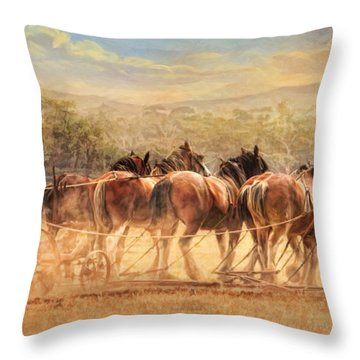 Days In The Dust Throw Pillow