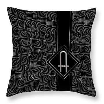 Deco Jazz Swing Monogram ...a Throw Pillow