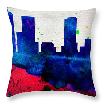 Denver City Skyline Throw Pillow