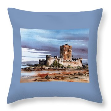 Doe Castle In Donegal Throw Pillow