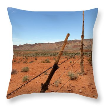 Throw Pillow featuring the photograph  Don't Fence Me In by Tammy Espino