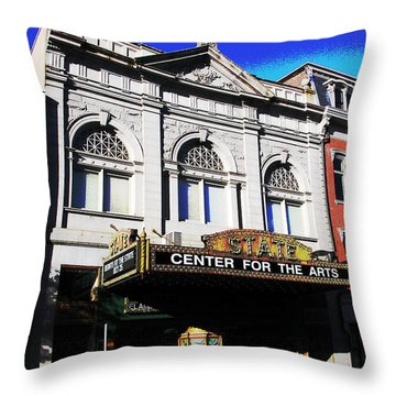 Easton Pa State Theater Center For The Arts Throw Pillow by Jacqueline M Lewis