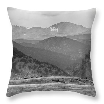 Eldorado Canyon And Continental Divide Above Bw Throw Pillow by James BO  Insogna