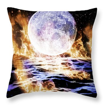 Emotions On Fire Throw Pillow