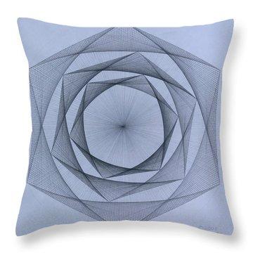 Energy Spiral Throw Pillow