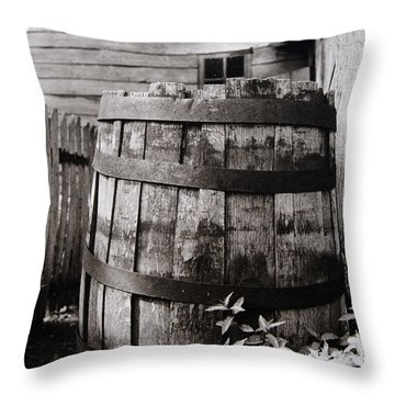 Throw Pillow featuring the photograph  Ephrata Cloisters Barrel by Jacqueline M Lewis