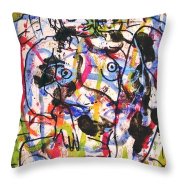 Erotic Nude Throw Pillow by Natalie Holland