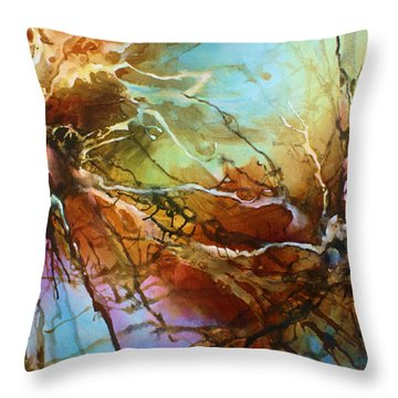 ' Evolution ' Throw Pillow by Michael Lang