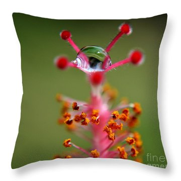 Throw Pillow featuring the photograph  Eye by Michelle Meenawong