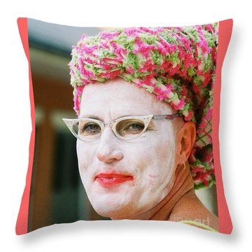 Eye See Colours Of Noxie Noxzema At The Southern Decadence In New Orleans Louisiana Throw Pillow by Michael Hoard