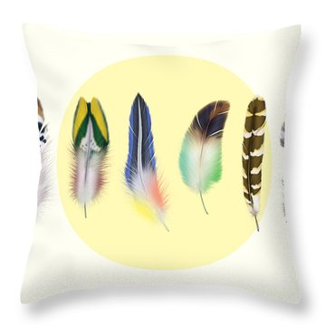 Feathers 2 Throw Pillow by Mark Ashkenazi