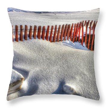 Fence Sculpture Throw Pillow