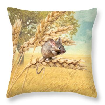 Field Mouse Throw Pillow