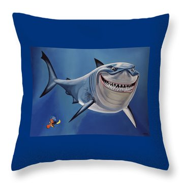 Finding Nemo Painting Throw Pillow by Paul Meijering