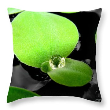 Throw Pillow featuring the photograph  Floating by Michelle Meenawong