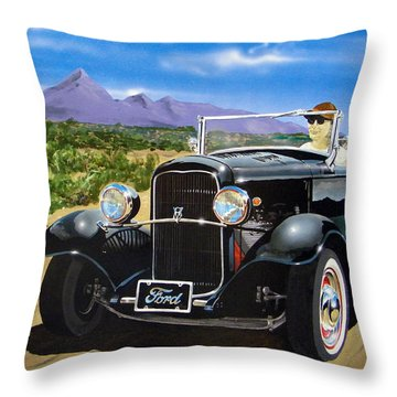 Ford Roadster Highboy Throw Pillow