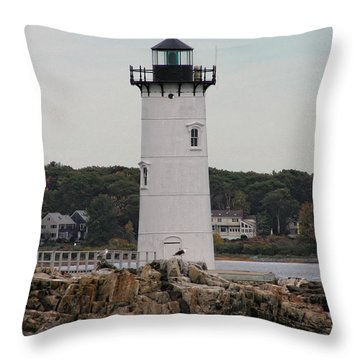 Fort Constitution Light Throw Pillow