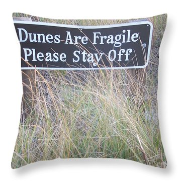 Throw Pillow featuring the photograph Sand Dune  by Eunice Miller