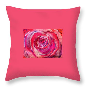 French Pink Throw Pillow